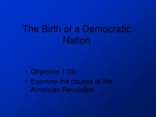 The Birth of a Democratic Nation