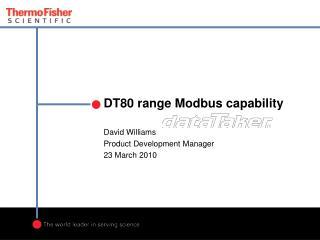 DT80 range Modbus capability