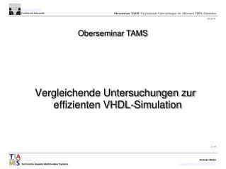 Oberseminar TAMS