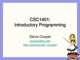 CSC1401: Introductory Programming