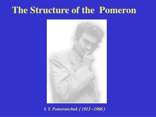 The Structure of the  Pomeron