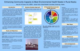 Enhancing Community Capacity to Meet Environmental Health Needs in Rural Alaska