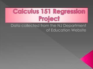 Calculus 151 Regression Project