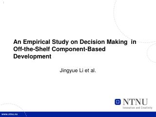 An Empirical Study on Decision Making  in Off-the-Shelf Component-Based Development
