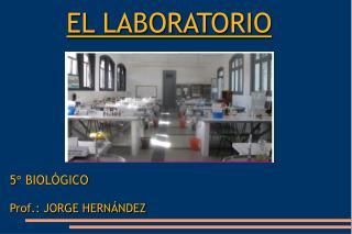 EL LABORATORIO 5° BIOLÓGICO Prof.: JORGE HERNÁNDEZ