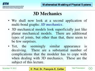 3D Mechanics