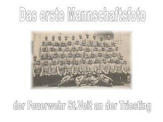 Das erste Mannschaftsfoto