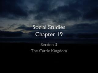 Social Studies Chapter 19