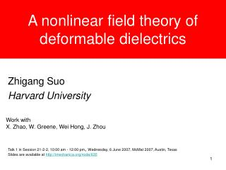 A nonlinear field theory of deformable dielectrics