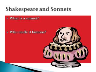 Shakespeare and Sonnets