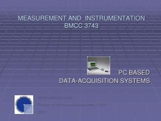 MEASUREMENT AND  INSTRUMENTATION BMCC 3743