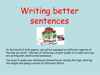 Writing better sentences