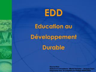 EDD Education au D�veloppement Durable