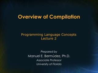 Overview of Compilation