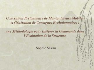 Sophie Sakka