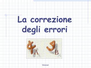 La correzione degli errori
