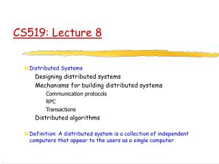 CS519: Lecture 8
