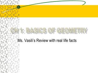 CH 1:  BasicS of Geometry