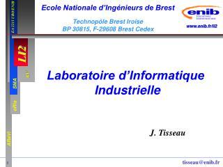 Laboratoire d�Informatique  Industrielle
