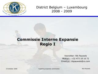 Commissie Interne Expansie Regio I