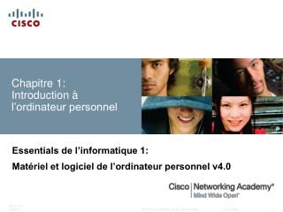 Chapitre 1: Introduction   l ordinateur personnel