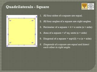 Quadrilaterals - Square