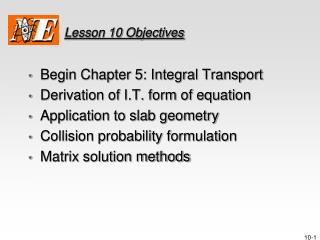Lesson  10  Objectives
