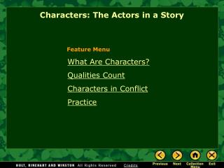 What Are Characters? Qualities Count  Characters in Conflict Practice