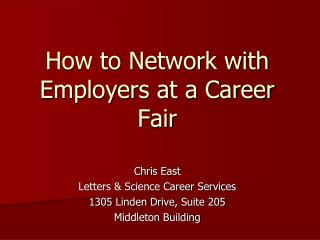How to Network with Employers at a Career Fair