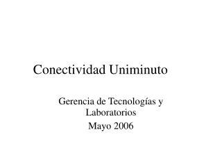 Conectividad Uniminuto