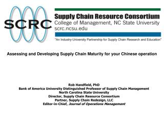 Assessing and Developing Supply Chain Maturity for your Chinese operation