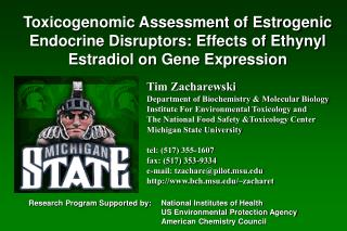 Tim Zacharewski Department of Biochemistry & Molecular Biology