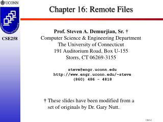 Chapter 16:  Remote Files