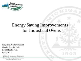 Energy Saving Improvements for Industrial Ovens