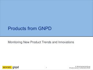 Monitoring New Product Trends and Innovations