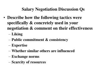 Salary Negotiation Discussion Qs