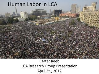 Human Labor in LCA
