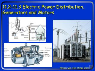 11.2-11.3 Electric Power Distribution, Generators and Motors