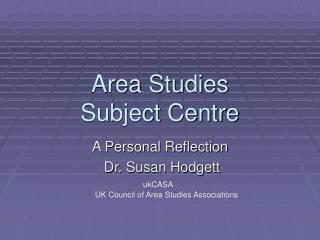 Area Studies Subject Centre