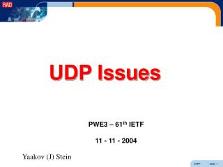 UDP Issues