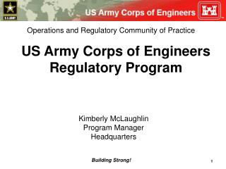 US Army Corps of Engineers Regulatory Program