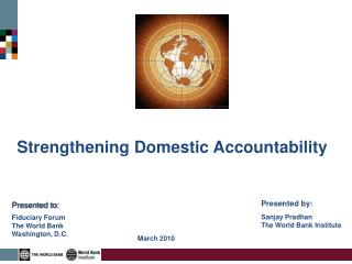 Strengthening Domestic Accountability