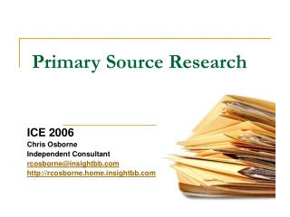 Primary Source Research