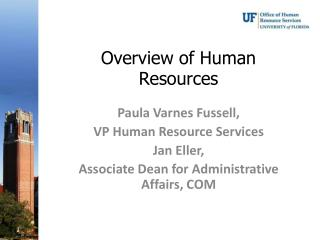 Overview of Human Resources