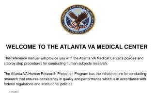 WELCOME TO THE ATLANTA VA MEDICAL CENTER