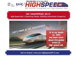 Get  on board: uic-highspeed2012