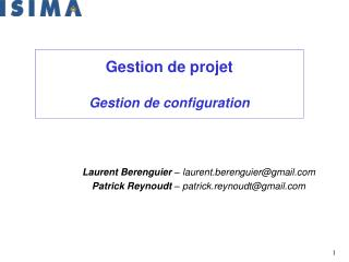 Gestion de projet Gestion de configuration