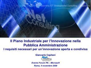 Il Piano Industriale per l'Innovazione nella Pubblica Amministrazione