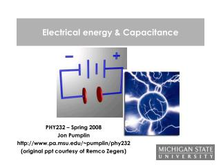 Electrical energy & Capacitance