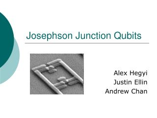 Josephson Junction Qubits